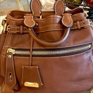 Large Leather Burberry Handbag